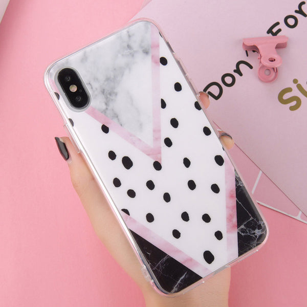 Geometric Quote Marble Case