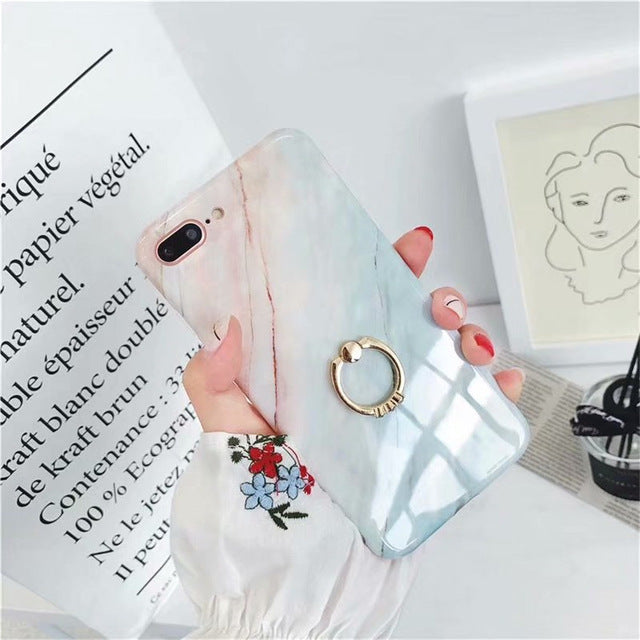 Fashion Glossy Marble Case