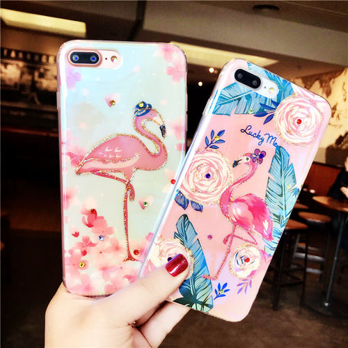 Glossy Cute Flamingo Case