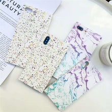 Square Marble Texture Case