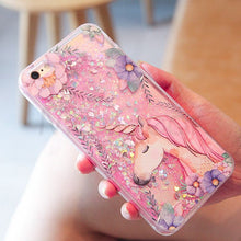 Bling Glitter UniCorn/Flamingo Quicksand Case