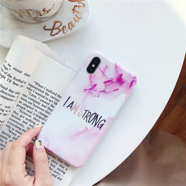 Letter  Marble Case with PopSocket