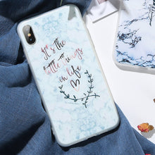 Marble Quote Triangle Case
