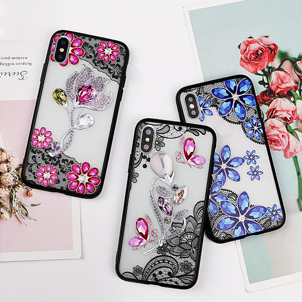 Crystal Flower Lace Case