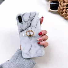 Vintage Marble Case with Ring Holder