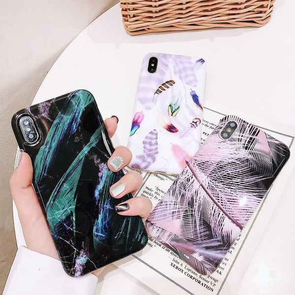 Feather Marble Case