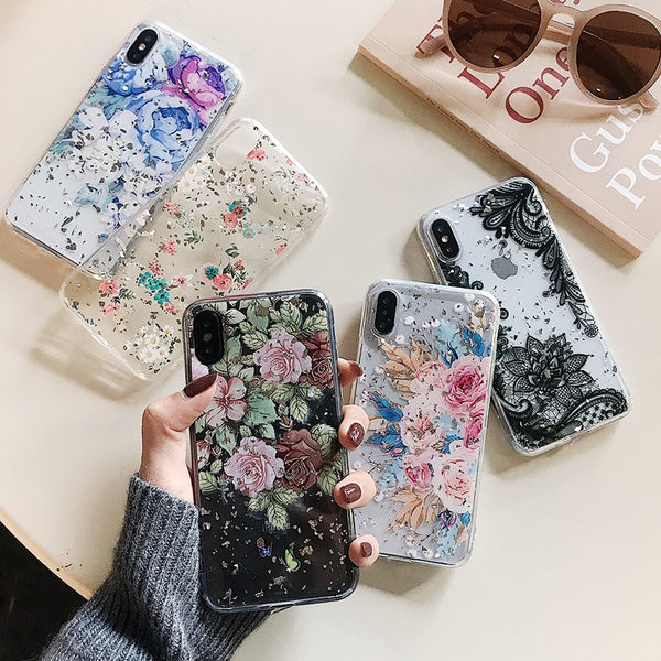 Foil Lace Flowers Case