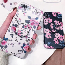 Tropical Flower Case with Popsocket