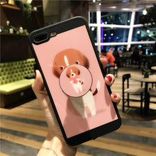 Cute Dog Case With Ring