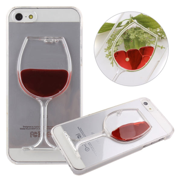 iPhone Liquid Quicksand Red Wine Transparent Case