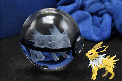 3D Crystal Jolteon Pokemon Ball