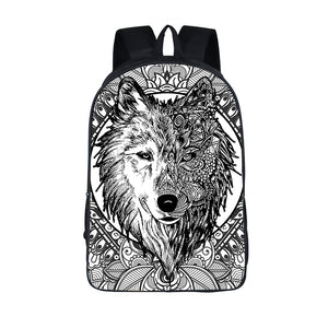 Wolf Art Backpack