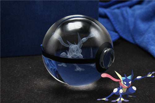 3D Crystal Greninja Pokemon Ball
