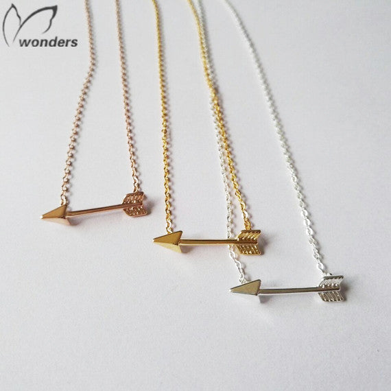Rose Gold Hunger Games Arrow Necklace Pendants