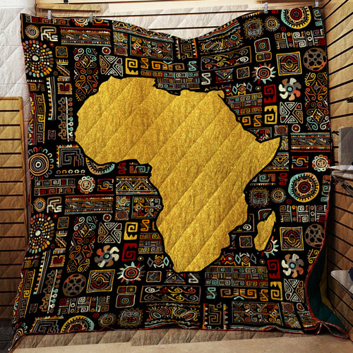 Africa Map-  Quilt