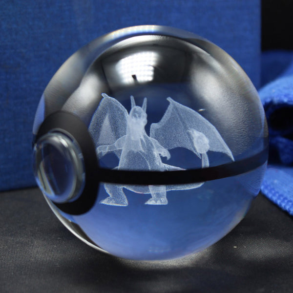 3D Crystal Charizard Pokemon Ball
