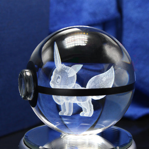 3D Crystal Eevee Pokemon Ball