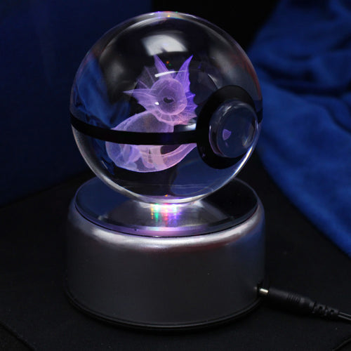 3D Crystal Vaporeon Pokemon Ball