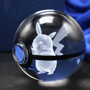 3D Crystal Pikachu Pokemon Ball