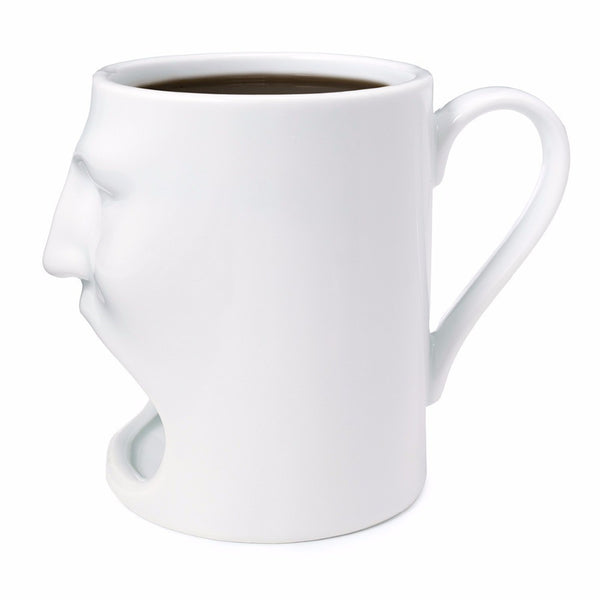 Ceramic Face Cup Dunk Mug With Biscuit Holder