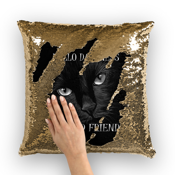 Hello Darkness, My Old Friend Sequin Cushion Cover