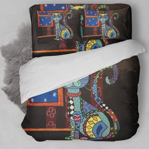Abstract Cat Bedding Set