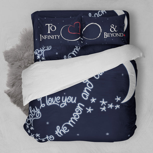 BABY LOVE YOU TO THE MOON AND BACK BEDDING SET