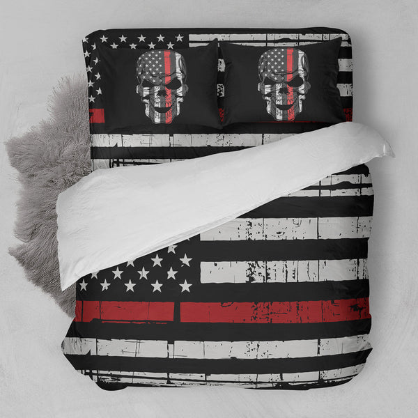 Thin Red Line Firefighter Bedding Set