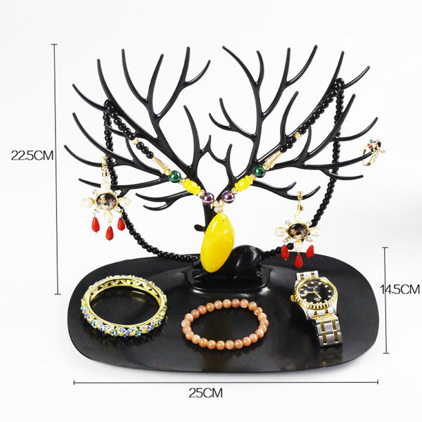Antler Shaped Plastic Jewelry Holder