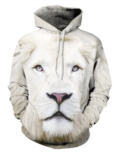 Printed Lion 3D Graphic Hoodies