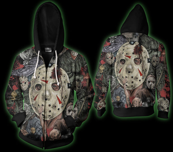 Friday the 13th A Zip Hoodie