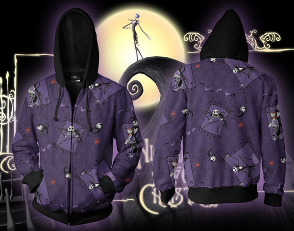 NightMare Before Christmas B Zip Hoodie