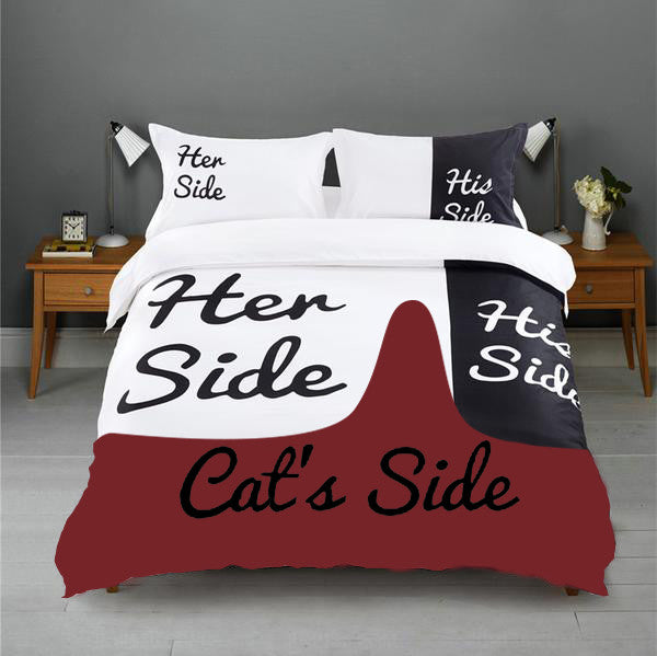 Her Side His Side Cat S Side Bedding Sets Block Of Gear