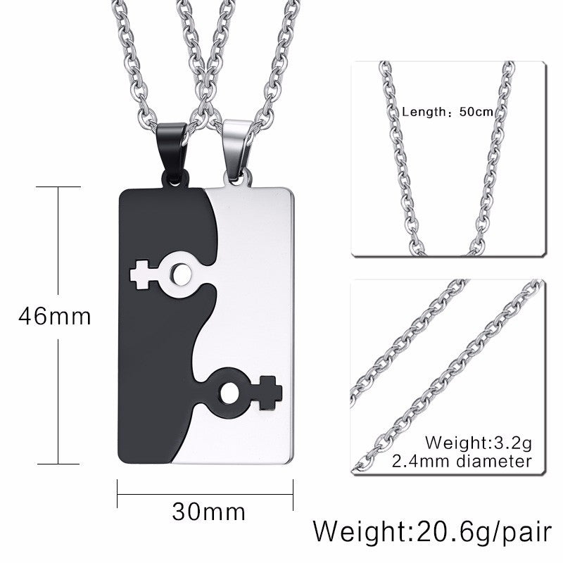 Stainless Steel Blade Shape Lesbian Necklace