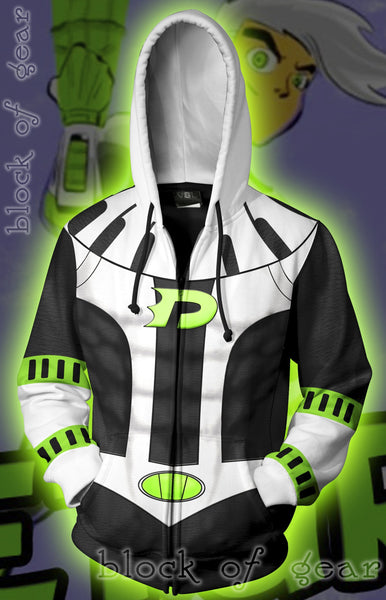 Danny Phantom 10 Years Later Zip Hoodie