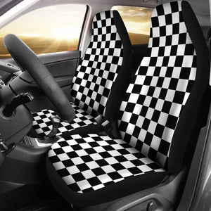 CHECKERBOARD CAR SEAT COVERS