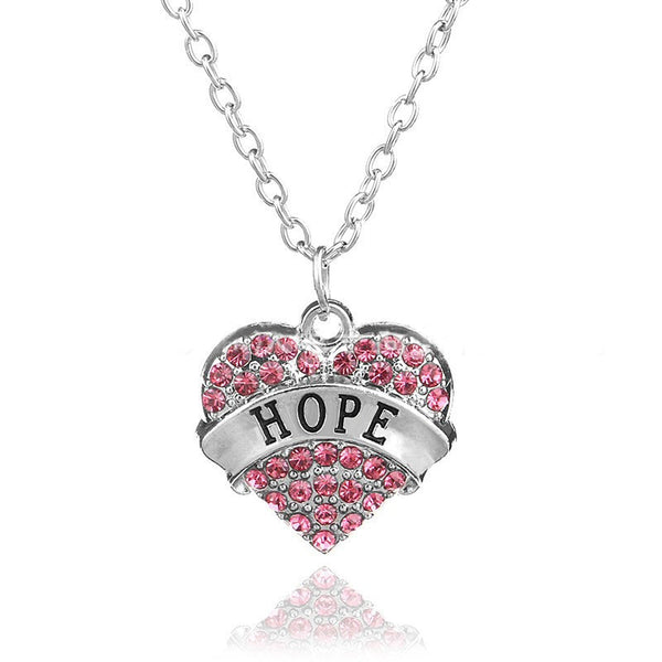 Pink Shape Heart Pendant Necklace