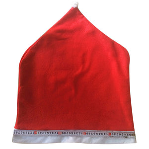 1pcs Santa Claus Cap Chair Cover