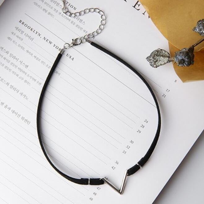 V Shaped Choker Necklace