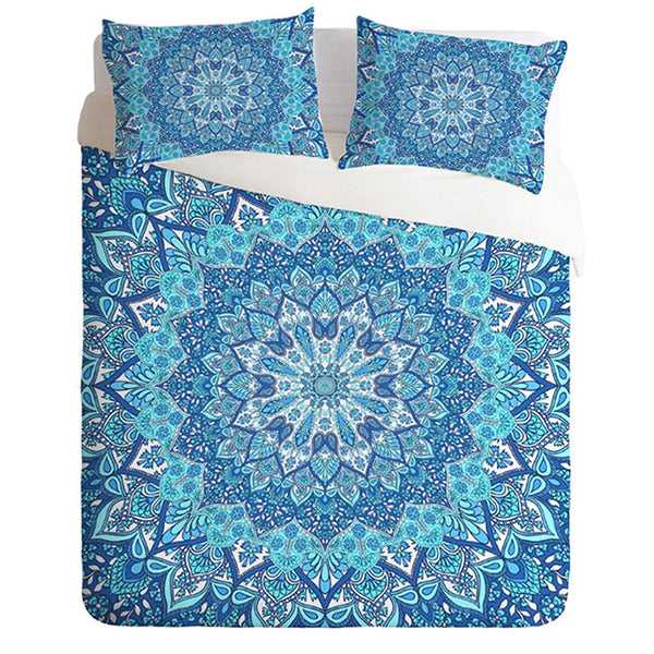 Bohemian Light Blue Bedding Set