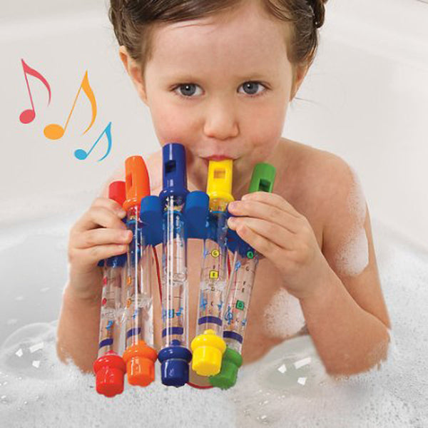 5pcs/1 Row Colorful Water Flutes Bath Toy