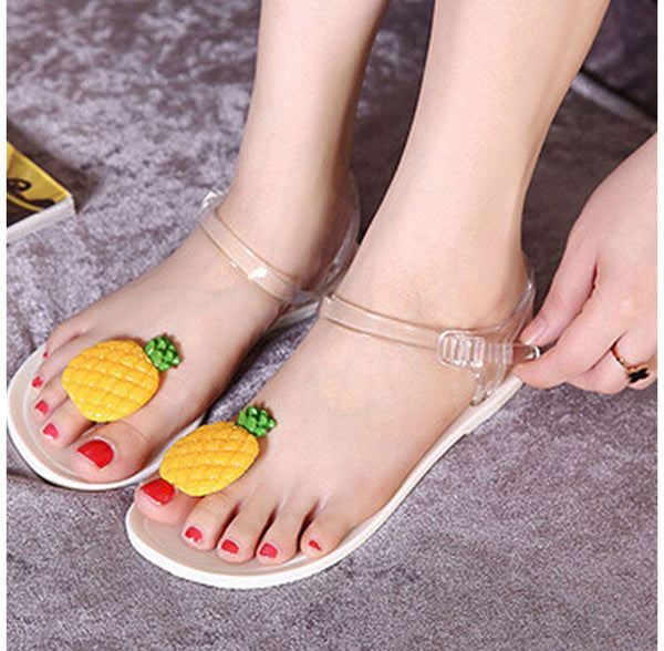 Fruit Pattern Jelly Beach Sandal