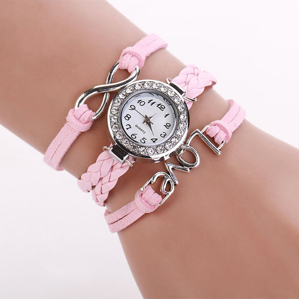 Infinity Love Hand-knitted Faux Leather Chain Watch