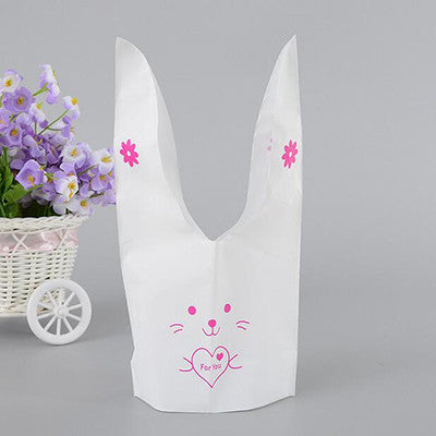 50pcs Cute Plastic Cookies Candy Bag For Easter/Wedding Decoration
