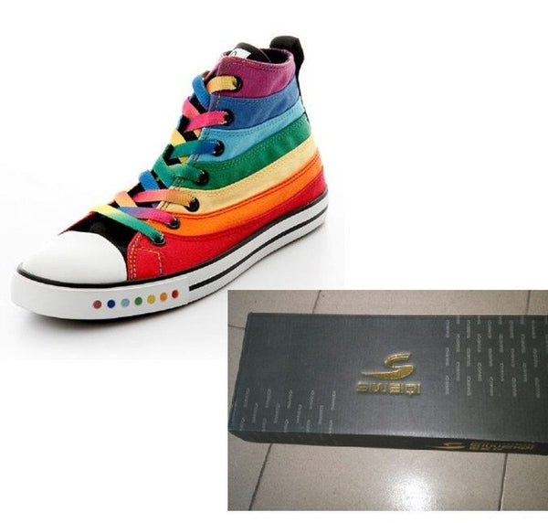 Colorful Rainbow Canvas Shoes