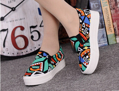 Colorful Flat Casual Women Slip On