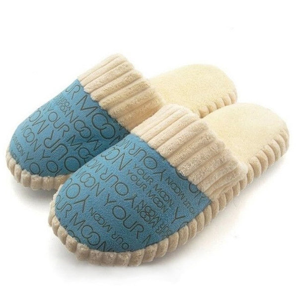 Cotton-padded Lovers Indoor Slippers