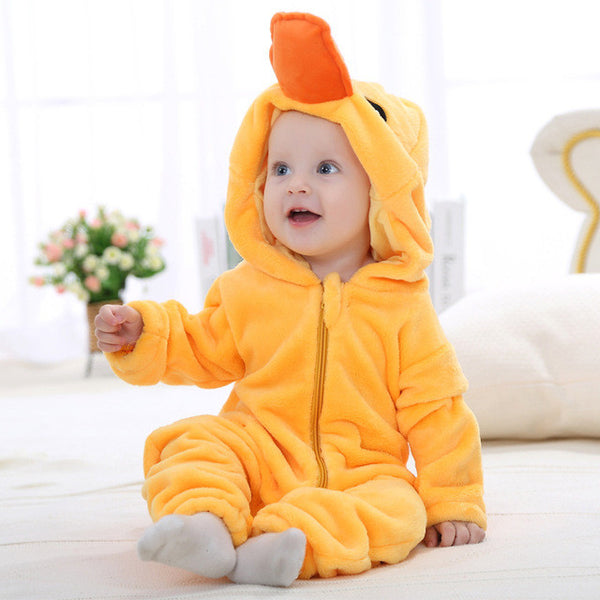 Animal Hooded Jumpsuit Baby Clothes