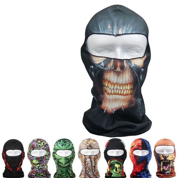 3D Sport Cycling Motorcycle Full Face Mask