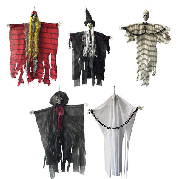 60cm Halloween Hanging Pirate Witch Prisoner Reaper Ghost Haunted Halloween Decorations